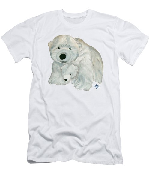 Men's T-Shirt (Athletic Fit) featuring the painting Cuddly Polar Bear by Angeles M Pomata