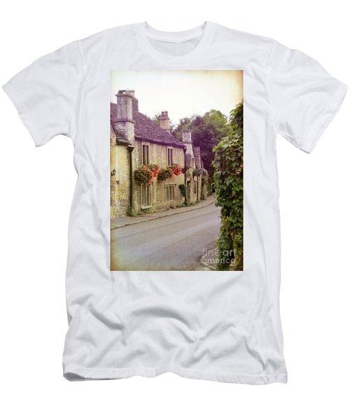 Men's T-Shirt (Slim Fit) featuring the photograph English Village by Jill Battaglia