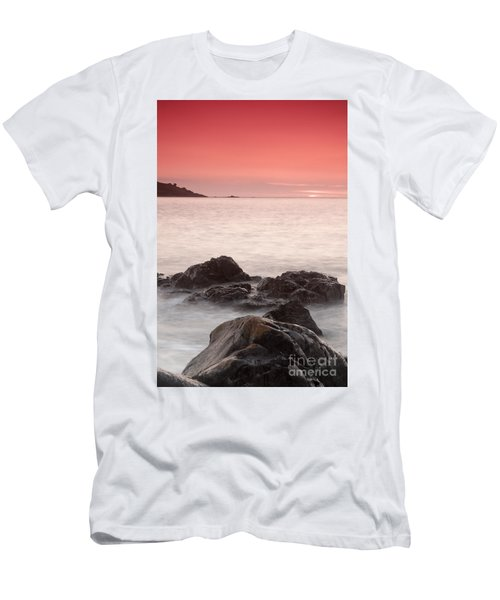 Fine Art- St Ives At Sunset By Phill Potter Men's T-Shirt (Athletic Fit)