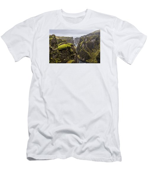 Men's T-Shirt (Athletic Fit) featuring the photograph Fjadrargljufur by James Billings