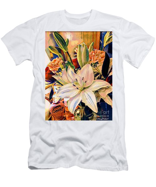 Flowers For You Men's T-Shirt (Slim Fit) by MaryLee Parker