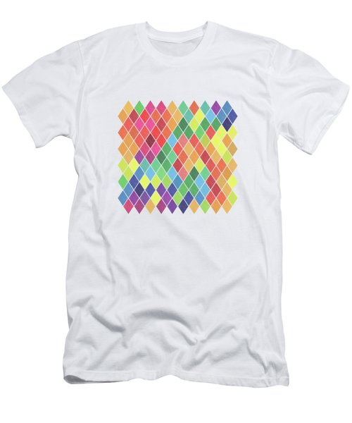 Geometric Background Men's T-Shirt (Athletic Fit)
