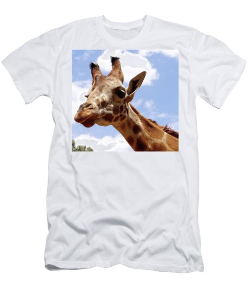 Giraffe Getting Personal 6 Men's T-Shirt (Athletic Fit)