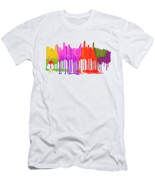 Gold Coast Australia Skyline  Men's T-Shirt (Athletic Fit)