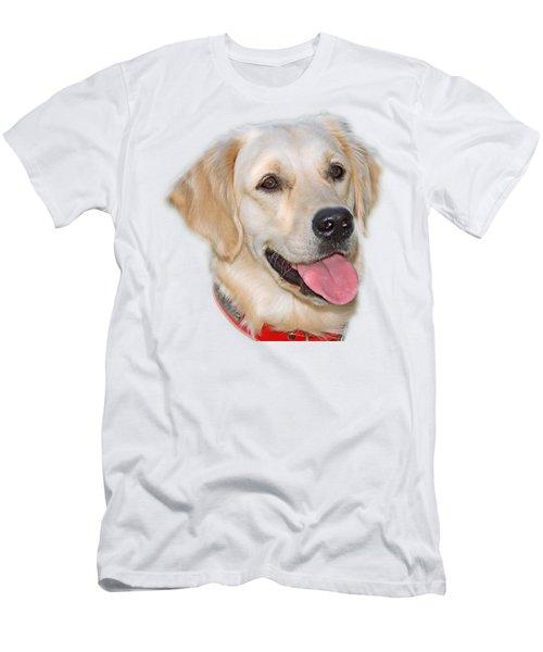 Golden Retriever Men's T-Shirt (Slim Fit) by George Atsametakis