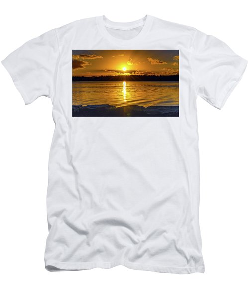 Golden Sunrise Waterscape Men's T-Shirt (Athletic Fit)