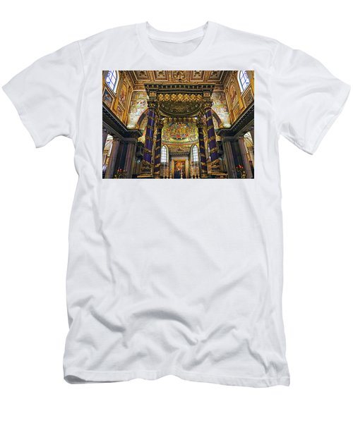 Interior View Of The Basilica Di Santa Maria Maggiore In Rome Italy Men's T-Shirt (Athletic Fit)