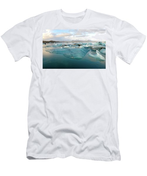 Jokulsarlon The Glacier Lagoon, Iceland 2 Men's T-Shirt (Slim Fit) by Dubi Roman