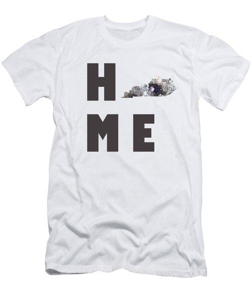 Men's T-Shirt (Slim Fit) featuring the digital art Kentucky State Map by Marlene Watson