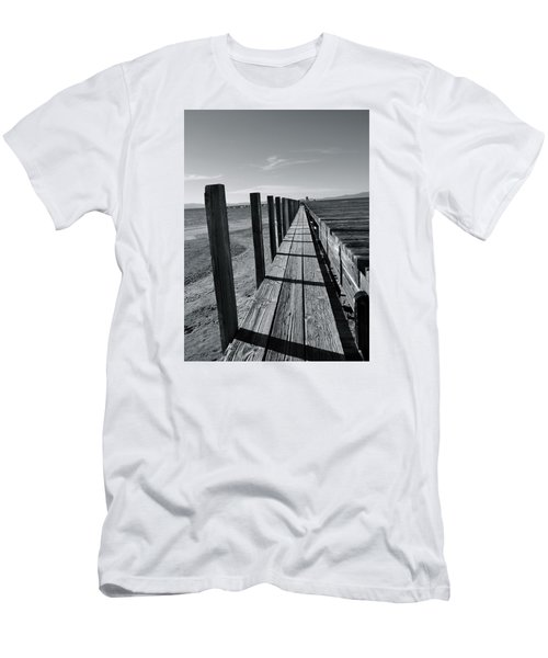 Boardwalk To The Lake Men's T-Shirt (Athletic Fit)