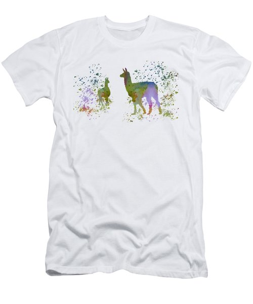 Llamas Men's T-Shirt (Slim Fit) by Mordax Furittus