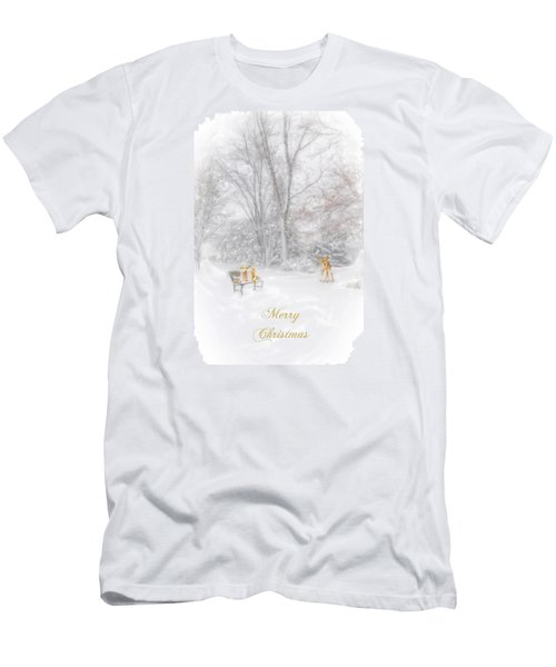 Men's T-Shirt (Slim Fit) featuring the photograph Merry Christmas by Mary Timman