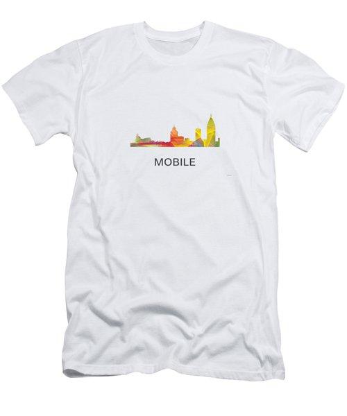 Mobile Alabama Skyline Men's T-Shirt (Athletic Fit)