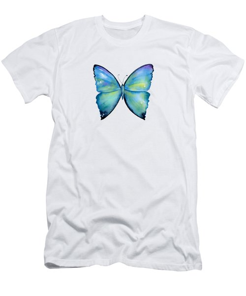 2 Morpho Aega Butterfly Men's T-Shirt (Athletic Fit)