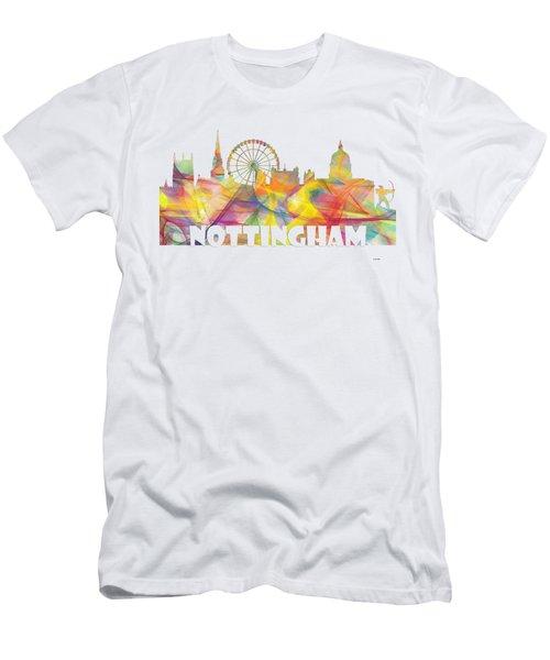 Nottingham England Skyline Men's T-Shirt (Athletic Fit)