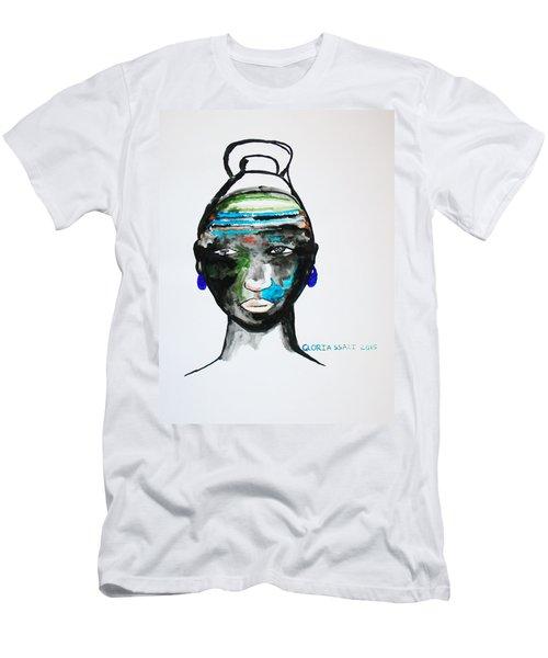 Nuer Bride - South Sudan Men's T-Shirt (Athletic Fit)