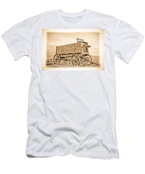 Old West Wagon  Men's T-Shirt (Athletic Fit)