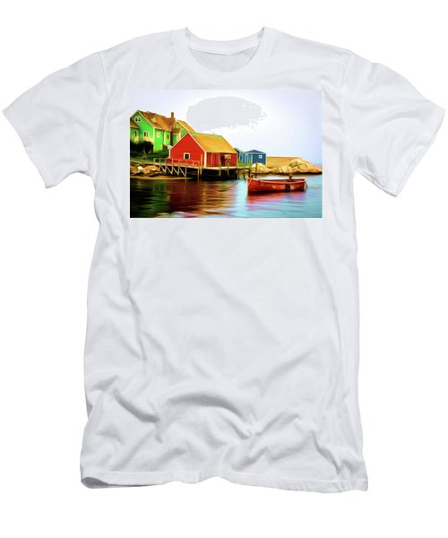 Peggy's Cove Men's T-Shirt (Slim Fit) by Andre Faubert
