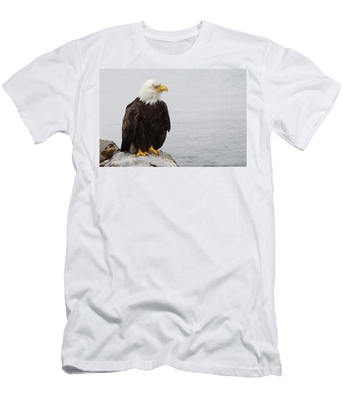 Men's T-Shirt (Athletic Fit) featuring the photograph Perched Bald Eagle by Brandy Little