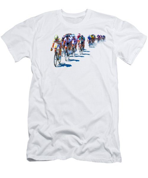 Men's T-Shirt (Slim Fit) featuring the photograph Philadelphia Bike Race by Bill Cannon