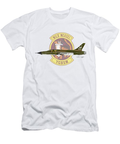 Men's T-Shirt (Slim Fit) featuring the digital art Republic F-105g Thunderchief 561tfs by Arthur Eggers
