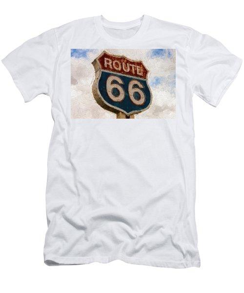 Route 66  Men's T-Shirt (Slim Fit) by Louis Ferreira