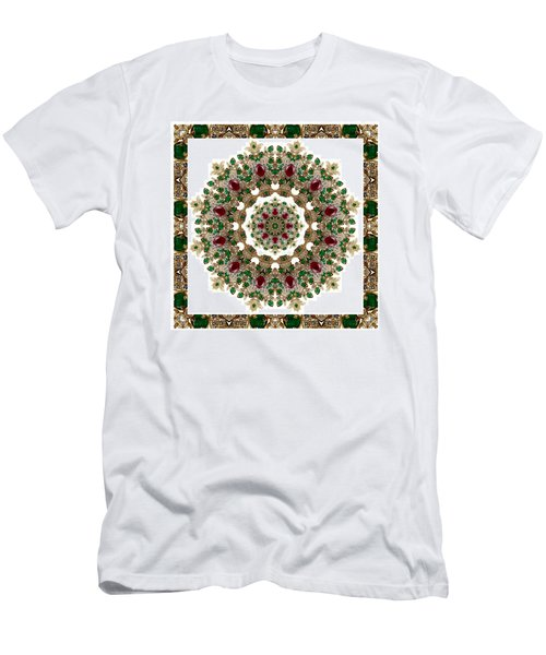 Ruby And Emerald Kaleidoscope Men's T-Shirt (Athletic Fit)