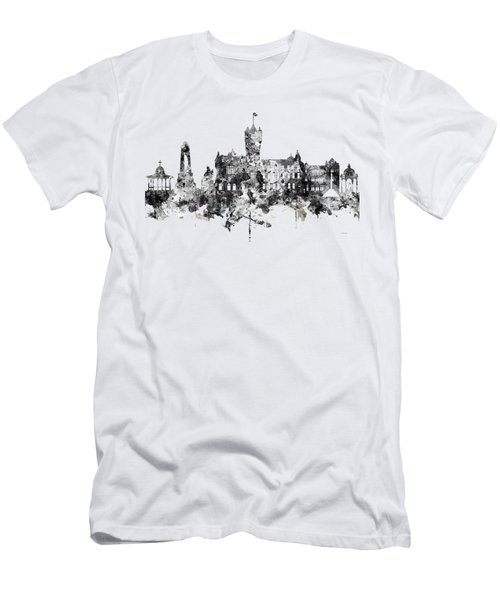 Rutherglen Scotland Skyline Men's T-Shirt (Slim Fit)