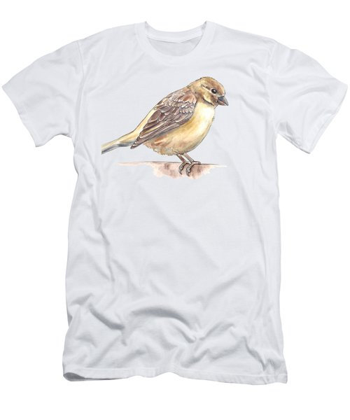 Sparrow Men's T-Shirt (Slim Fit) by Katerina Kirilova