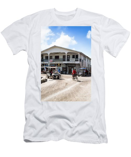 Men's T-Shirt (Slim Fit) featuring the photograph Street Scene Of San Pedro by Lawrence Burry
