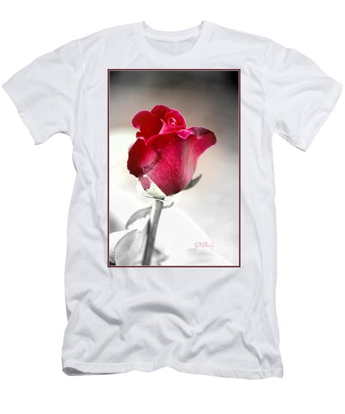 Men's T-Shirt (Athletic Fit) featuring the photograph The Rose by Donna Bentley