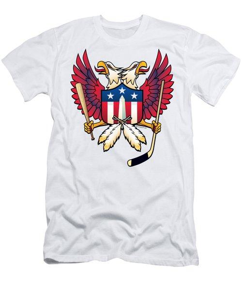 Washington Dc Double Eagle Sports Fan Crest Men's T-Shirt (Athletic Fit)