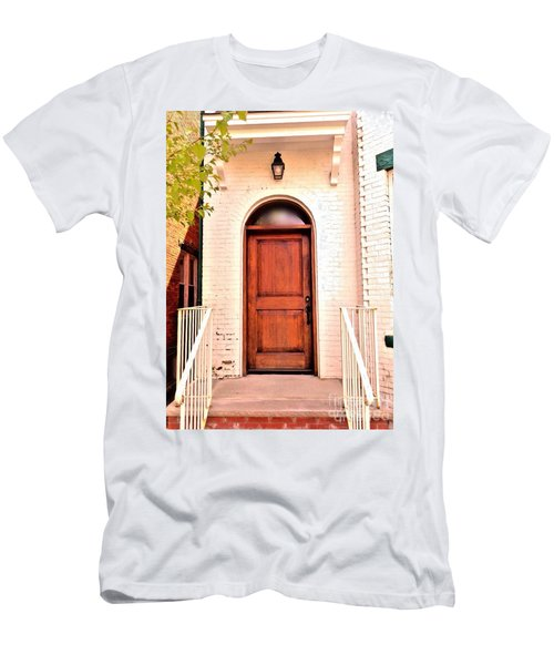 Men's T-Shirt (Slim Fit) featuring the photograph Welcome Home by Becky Lupe
