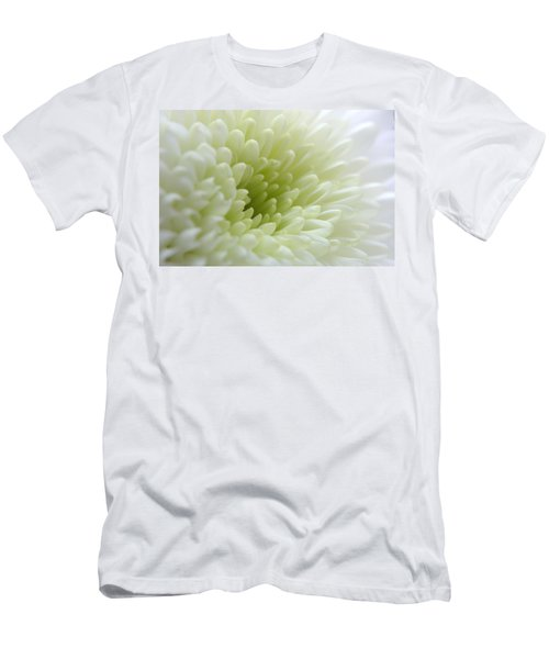White Chrysanthemum Men's T-Shirt (Athletic Fit)