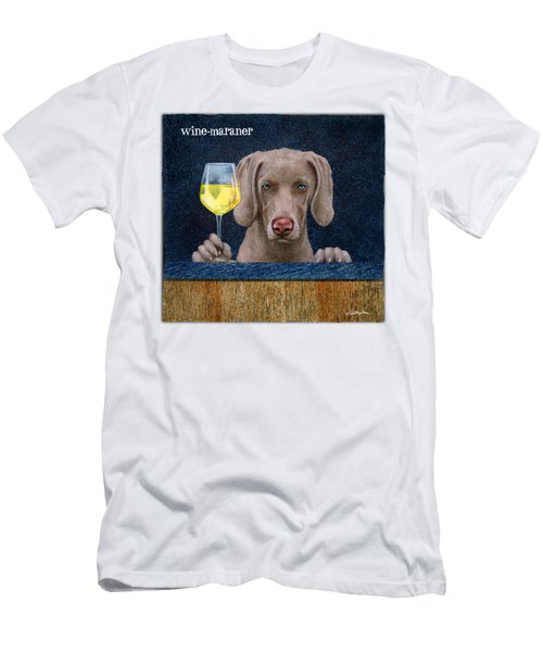 Wine-maraner Men's T-Shirt (Slim Fit) by Will Bullas