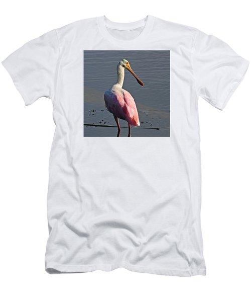 Roseate Spoonbill Men's T-Shirt (Athletic Fit)