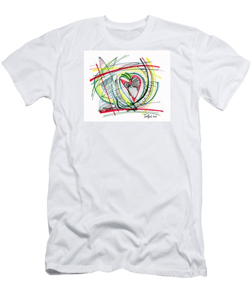 2010 Abstract Drawing Eighteen Men's T-Shirt (Slim Fit) by Lynne Taetzsch