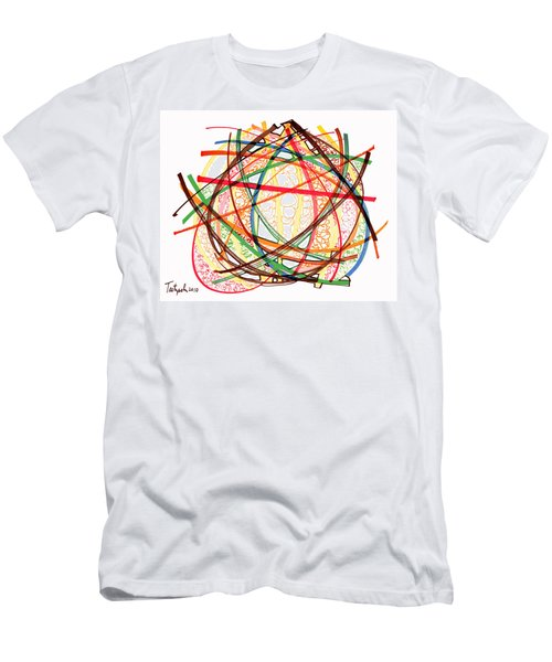 2010 Abstract Drawing Fifteen Men's T-Shirt (Slim Fit) by Lynne Taetzsch