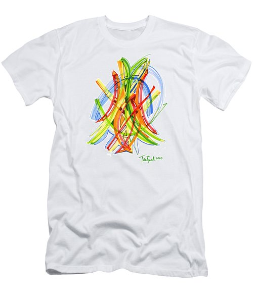 2010 Abstract Drawing Seven Men's T-Shirt (Slim Fit) by Lynne Taetzsch