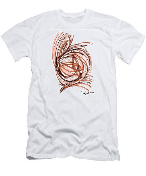 2010 Abstract Drawing Six Men's T-Shirt (Slim Fit) by Lynne Taetzsch