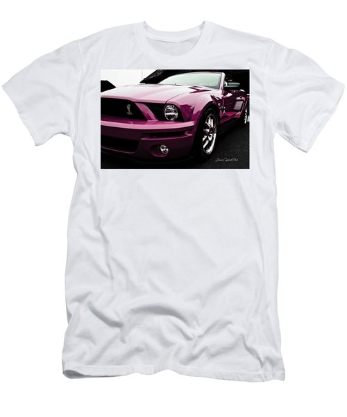 Men's T-Shirt (Slim Fit) featuring the photograph 2010 Pink Ford Cobra Mustang Gt 500 by Joann Copeland-Paul