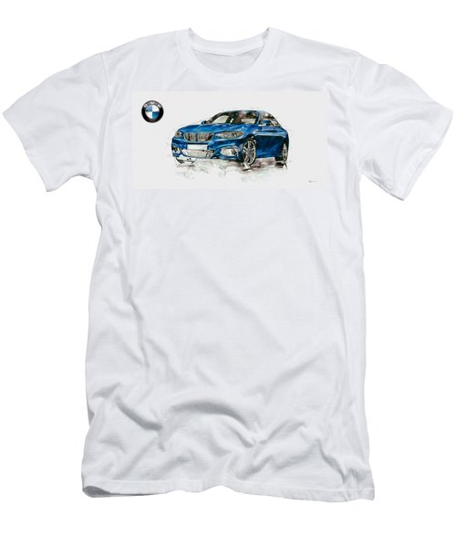 2014 B M W 2 Series Coupe With 3d Badge Men's T-Shirt (Athletic Fit)