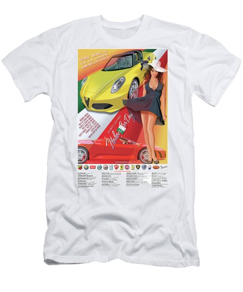 2015 Atlanta Italian Car Day Poster Men's T-Shirt (Athletic Fit)