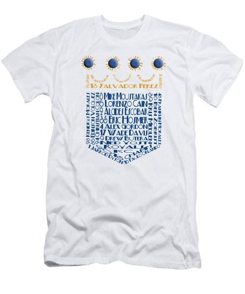 2015 Kansas City Crown Baseball Players Men's T-Shirt (Athletic Fit)