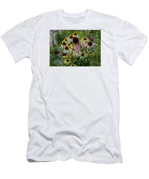 2015 Summer At The Garden Coneflowers Men's T-Shirt (Athletic Fit)