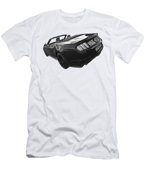 2016 Rhd Mustang Gt In Black And White Men's T-Shirt (Athletic Fit)