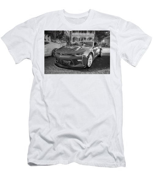 Men's T-Shirt (Slim Fit) featuring the photograph 2017 Chevrolet Camaro Ss2 Bw by Rich Franco