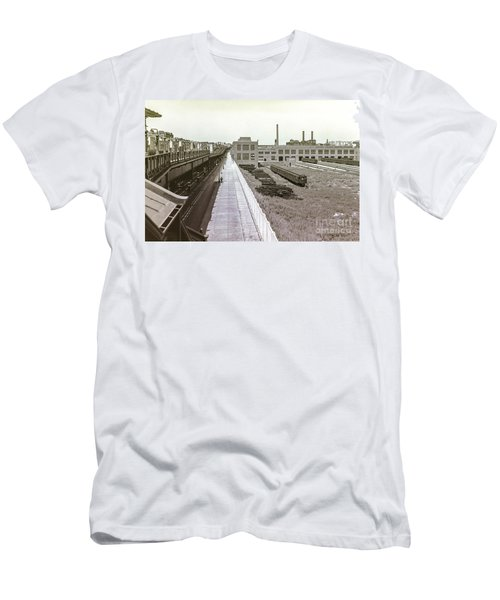 207th Street Subway Yards Men's T-Shirt (Athletic Fit)