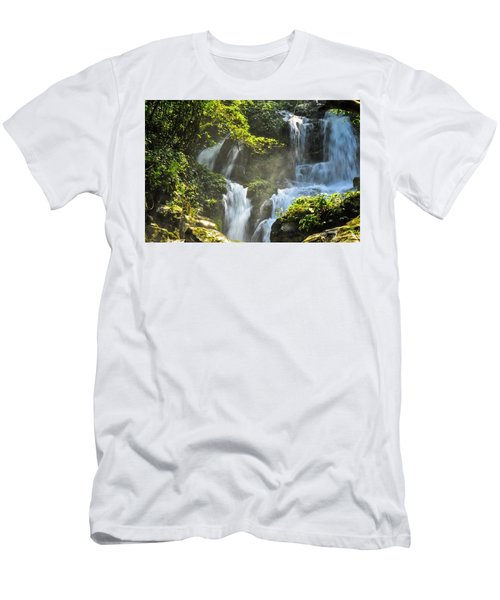 Waterfall Scenery Men's T-Shirt (Athletic Fit)