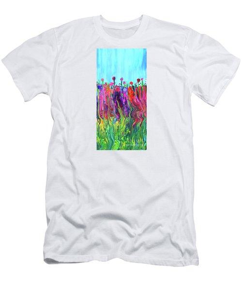 #2555  Happylittle Garden Men's T-Shirt (Athletic Fit)